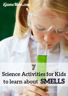 Why can we smell? How does smell affect taste? Fun science activities that answer kids questions about the sense of smell. Fun STEM resources for  Five Senses unit or Human body unit | preschool kindergarten high school