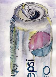 Pop art ideas.  Pen and ink with water color wash.