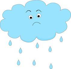 Nuage de pluie triste