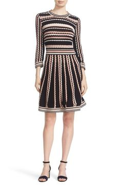 kate spade new york scallop stripe knit dress available at #Nordstrom