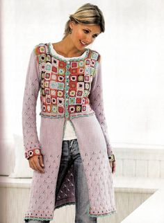 crochet/tricot, this is a great blog from a crocheter in Greenland, she made this crochet coat in blue colors and she writes about her life in Greenland