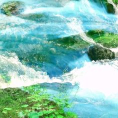 Blue rapids in Foliage