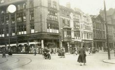 """""""Long Row East, Market Square in Bottom of King Street on left Nottingham City, Good Old Times, Old Photos, Walks, The Row, Robin, Past, Street View, England"""