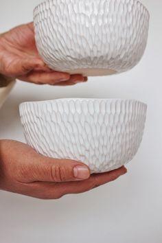 White ceramic dish set Ceramic salad bowl Pottery cereal bowl Ramen bowl Soup bowl Stoneware Serving Bowls Handmade dinnerware set Home ceramic pottery Pottery Plates, Ceramic Pottery, Slab Pottery, Pottery Vase, Pottery Shop, Ceramic Bowls, Stoneware, Ceramic Art, Ceramic Mugs