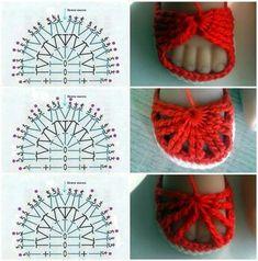 Amazing Picture of Baby Booties Crochet Pattern Crochet Booties Pattern, Crochet Baby Boots, Crochet Baby Sandals, Crochet Baby Clothes, Baby Shoes Pattern, Crochet Shoes, Diy Crafts Crochet, Crochet Projects, Booties Crochet