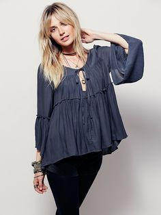 Free People A Few of My Favorite Things Top, $98.00, Color: Slate, Size: Small