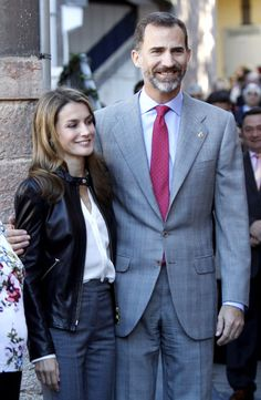 Prince Felipe  and Princess Letizia visited Teverga.  Teverga has been awarded this year with the Asturias Exemplary Village Prize.