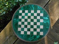 SALE   Antique malachite and marble chess board by thetinbox, $195.00