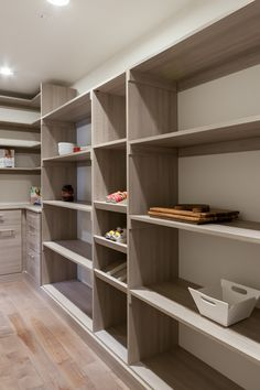 A GRAND walk through pantry! This has space for every thing you could imagine and keeps it out of the kitchen! #pantry