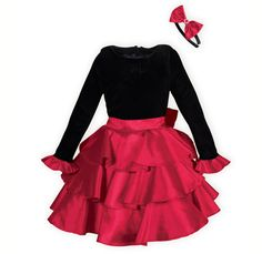 Merry Tiers girls' holiday dress or for any occasion.USA made exclusively for THE WOODEN SOLDIER.