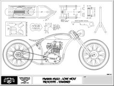 Voodoo Vintage: the XS650 LONE WOLF frame is in production! - XS650 Forum