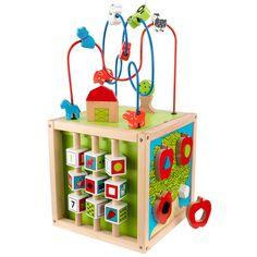 Le boulier d'activités labyrinthe de la marque Kidkraft favorise l'éveil de votre enfant grâce à ses formes et ses couleurs. En jouant avec, l'enfant stimule sa capacité de coordination main-oeil.