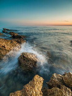 SPLASH...  Detail of Adriatic coast near town of Porec, Istria, Croatia.