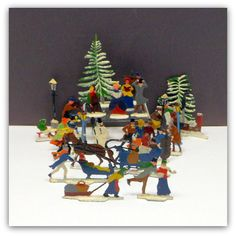 Vintage Christmas 25 Heinrichsen German Lead Flats Winter Scene Figures Putz by CollectMemories on Etsy Merry Christmas Darling, Everyday Holidays, Putz Houses, Coastal Christmas, Flats, Vintage Holiday, Winter Scenes, Just Giving, Vintage Toys