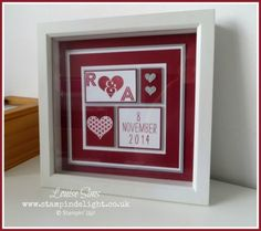 Stampin' Up! Groovy Love Framed Art - Stampin' Delight, DIY Personalised Gift Idea #handmade #stampinup #giftidea