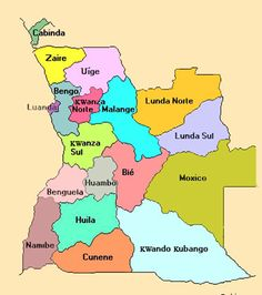 Angola and its provinces. Travel to Angola with EXPRESSO VIAGENS DMC. A member of GONDWANA DMCs, your network of boutique Destination Management Companies for travel to all the exotic corners of the world - www.gondwana-dmcs.net