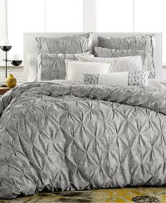 Beautiful bedding, Bar III Diamond Pleat King Duvet Cover
