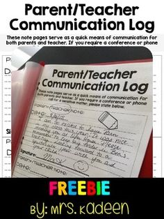 This free parent and teacher communication log with help you keep quick notes between you and parents. The Back To School  tool is great for quick reminders in addition to your newsletter or for writing and sending positive notes home. I use these in students homework folders.