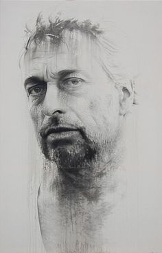 Peter Drost by Annemarie Busschers. Acrylic and pencil on cotton. 250 x 160cm 2011