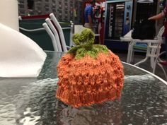 Pumpkin Hat my friend made for me.