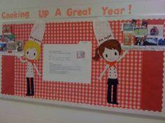 photo on i heart teaching cooking up great bulletin boards - Kitchen Bulletin Board Ideas