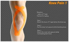 Kinesiology taping instructions for knee pain #ktape #knee #pain