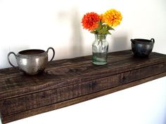 Rustic Floating Shelves Reclaimed Wood Floating by TheVineyards