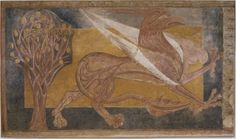 Information on Arlanza Paintings: Griffin in Barcelona. National Art Museum of Catalonia (MNAC). Technical information on the artwork on the official portal for culture in Spain. San Pedro, National Art Museum, Romanesque Art, High Middle Ages, Byzantine Art, Gcse Art, European History, Medieval Art, Gothic Art