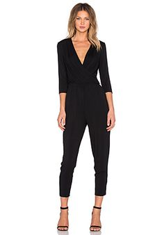 Halston Heritage Draped Jumpsuit in Black | REVOLVE