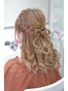 Girly Hairstyles, Kawaii Hairstyles, Hairstyles Haircuts, Pretty Hairstyles, Natural Hair Styles, Short Hair Styles, Bridal Hair Buns, Kpop Hair, Hair Arrange