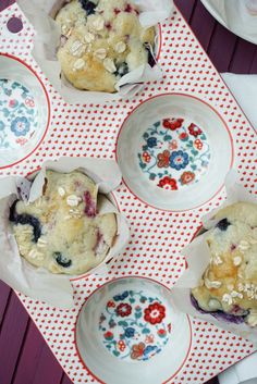 Triple Berry Muffins at the dessert chronicles