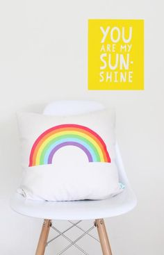 Create a comfy space with nursery throw pillows and nap mats from Project Nursery. Our baby throw pillows come in a variety of colors, patterns, and materials. Rainbow Room Kids, Rainbow Bedroom, Colorful Decor, Colorful Interiors, Kid N Play, Unicorn Bedroom, Kids Poster, Kids Bedroom, Bedroom Ideas