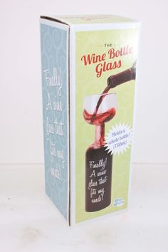 Wine Bottle Glass Holds a Whole Bottle Drink 750ml  #WineBottleGlass
