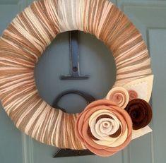 Handmade Felt - Yarn Wreath - Absolutely LOVE it! by joanne