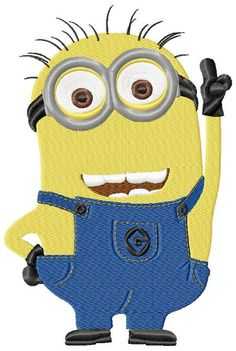 Minions Jerry machine embroidery design by emoembroidery on Etsy