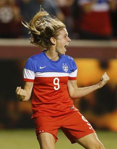 Heather O'Reilly after scoring against Mexico, Sept, 13, 2014. (George Frey/Getty Images)