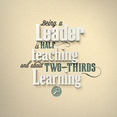 Leadership quote typography design by Elastic Studio