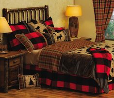 Picture of Luxury Rustic Bedding Logde Cabin Bedspreads and Comforters