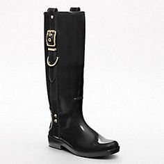 Just got these beauties from Coach! So cute they almost don't look like rainboots.