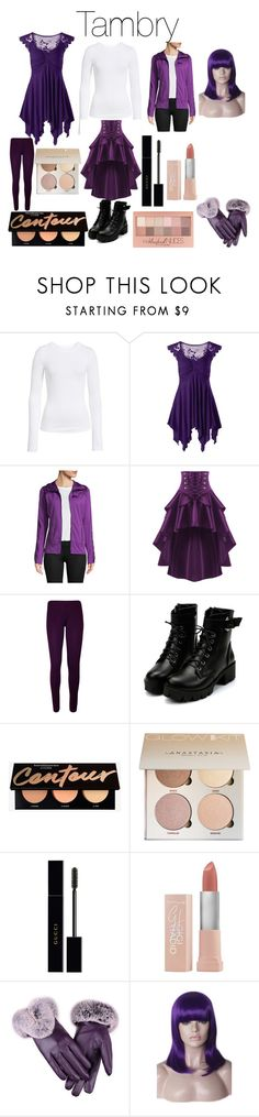 """""""Tambry from Disney's Gravity Falls"""" by tori-camilleri on Polyvore featuring BP., Helly Hansen, WearAll, Gucci, Maybelline and WithChic"""