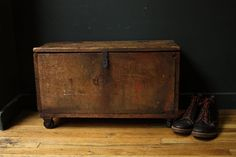 Primitive Wooden Trunk