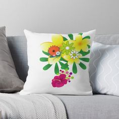 'flowers for you' Throw Pillow by Scatter Cushions, Throw Pillows, Flowers For You, Pattern Design, Floral Design, Art Prints, Printed, Awesome, Artwork