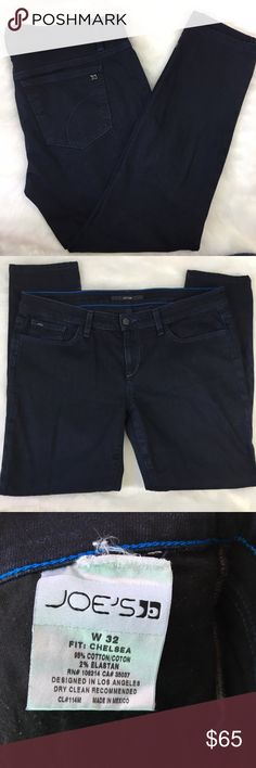 "Joe's Dark Wash Chelsea Ankle Perfect condition except for size tag coming loose - as shown! Staple denim, these are a must have! Rise 9"", Inseam 28"". Joe's Jeans are one of my absolute FAVORITE brands for high end, high quality denim! Joe's Jeans Jeans Ankle & Cropped"