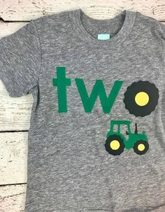 Tractor shirt tractor birthday shirt tractor party tractor decor tractor invite farm party boys birthday shirt tractor birthday tee - Birthday Shirts - Ideas of Birthday Shirts - Second Birthday Boys, 2nd Birthday Shirt, Birthday Themes For Boys, Farm Birthday, Boy Birthday Parties, Birthday Ideas, Farm Party, Tractor Decor, Tractor Party Ideas