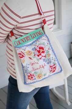 an inspirational idea for repurposing a vintage hankie - one of 8 picks for this week's Friday Favorites