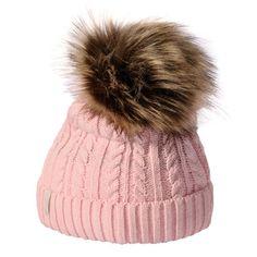 czapki zimowe damskie | Damska czapka zimowa z pomponem ANETO Meteor