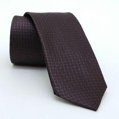 "Brown dotted, herringbone men's tie 6 cm (2,36"") DK-669. Brown striped and dotted men's necktie DK-669 Width : 6 cm (2,36"") Length : 150 cm (59,06"")."