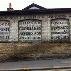 Ghost sign on Queenstown Road in battersea.