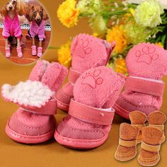 S-2XL Pet Dog Shoes Winter Super Warm Dog Boots Cotton Anti Slip Shoes Small Pet Product ChiHuaHua Waterproof Shoes MYDING  Price: 2.78 USD