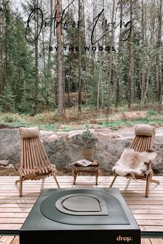 Here's how to create a scandi style minimalist outdoor living place with a fire pit. #terrace #decoration Outdoor Spaces, Outdoor Living, Outdoor Benches, Outdoor Decor, Farmhouse Bedroom Decor, Country Farmhouse Decor, Living Place, Modern Office Design, Backyard Patio Designs